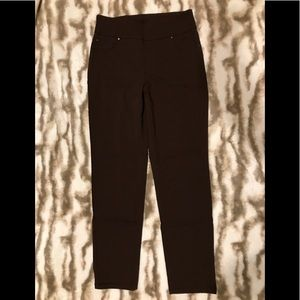 White Stag, dark brown, pull on with spandex pants